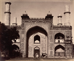 Sikandra. Akbar's Tomb. Main entrance to the garden surrounding the tomb from the south-west